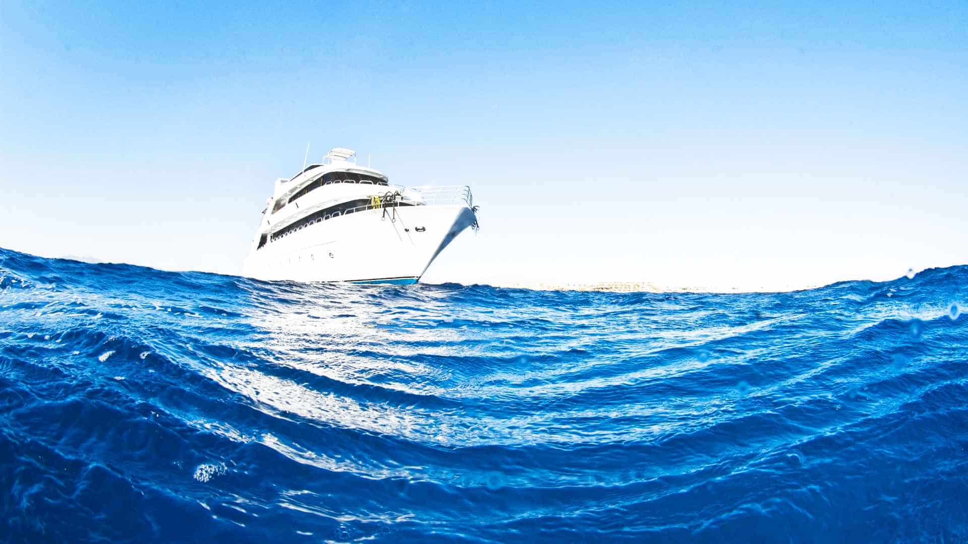 red sea yacht surface